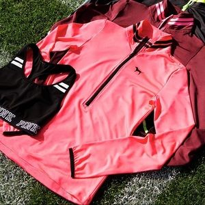 Neon Pink VS Pink Ultimate Quarter Zip Top